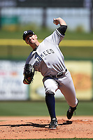 Tampa Yankees pitcher Dietrich Enns (34) during a game against the Clearwater Threshers on April 9, 2014 at Bright House Field in Clearwater, Florida.  Tampa defeated Clearwater 5-3.  (Mike Janes/Four Seam Images)