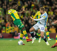 Norwich City's Alexander Tettey (left) vies for possession with Blackburn Rovers' Harry Chapman (right) <br /> <br /> Photographer David Horton/CameraSport<br /> <br /> The EFL Sky Bet Championship - Norwich City v Blackburn Rovers - Saturday 27th April 2019 - Carrow Road - Norwich<br /> <br /> World Copyright © 2019 CameraSport. All rights reserved. 43 Linden Ave. Countesthorpe. Leicester. England. LE8 5PG - Tel: +44 (0) 116 277 4147 - admin@camerasport.com - www.camerasport.com