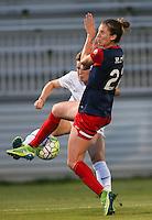 Boyds, MD - Saturday July 02, 2016: Caroline Kastor, Alyssa Kleiner during a regular season National Women's Soccer League (NWSL) match between the Washington Spirit and FC Kansas City at Maureen Hendricks Field, Maryland SoccerPlex.