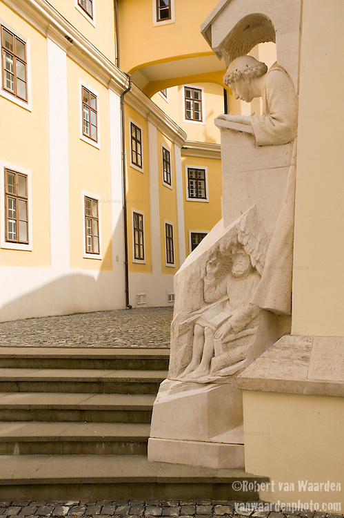 Statues at the Pannonhalma monastery in Hungary.