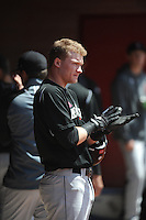 University of Cincinnati Bearcats outfielder Ian Happ (5) before a game against the Rutgers University Scarlet Knights at Bainton Field on April 19, 2014 in Piscataway, New Jersey. Rutgers defeated Cincinnati 4-1.  (Tomasso DeRosa/ Four Seam Images)