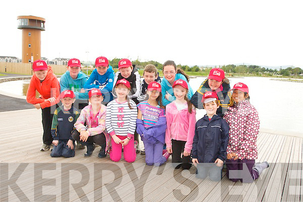 Pictured at the Tralee Bay Wetlands Centre 'Eco Explorer' Nature and Activity Camp on Wednesday were, front row, l-r: Billy Walsh, Freya O'Connor, Lucy Linnane, Georgia Twomey, Jessica Murphy, Tomáis Jones and Nicole Garcia Miranda. Back row, l-r: Darragh Burke, John Walsh, Niall Marley, Adam Butler, Conn Marley, Claudia Murphy and Katie Dwyer.