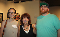 NWA Democrat-Gazette/CARIN SCHOPPMEYER Savannah Adams (from left), Shawn Frick and Kevin Johnson attend the opening reception.