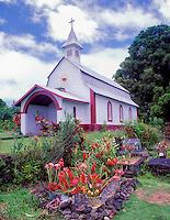 F00132M.tif   Our Lady of Fatima Shrine. Wailua, Maui, Hawaii