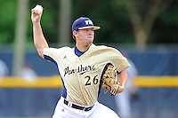 22 April 2012:  FIU pitcher Christian Malbrough (26) pitches late in the game as the University of Arkansas Little Rock Trojans defeated the FIU Golden Panthers, 7-6, at University Park Stadium in Miami, Florida.