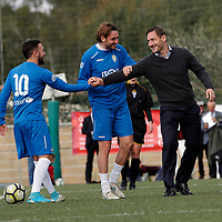 Francesco Totti batte il calcio d'inizio<br /> Francesco Totti is set to kick off <br /> Roma 23/12/2017. Totti Soccer School. Partita contro la violenza sulle donne in memoria di Sara di Pietrantonio.<br /> Rome November 23rd 2017. Totti Soccer School. Friendly soccer match fight violence against women.<br /> Foto Samantha Zucchi Insidefoto