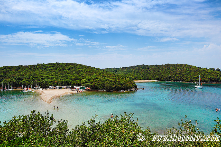 The famous beach Bella Vraka in Syvota, Greece