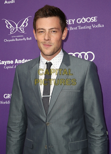 13 July 2013 - Vancouver, British Colombia, Canada - Glee star Cory Monteith was found dead Saturday in his hotel room at the Fairmont Pacific Rim Hotel in Vancouver. He was 31. The cause of death was not immediately apparent. An autopsy was set for Monday. According to police, there were no indications of foul play. They would not discuss what, if anything, was found in room. File Photo: 08 May 2013 - Los Angeles, California - Cory Monteith. 12th Annual Chrysalis Butterfly Ball held at Brentwood Country Estates<br /> CAP/ADM/SLP/D<br /> &copy;Dowling/SLP/AdMedia/Capital Pictures