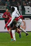01.12.2019, Borussia Park , Moenchengladbach, GER, 1. FBL,  Borussia Moenchengladbach vs. SC Freiburg,<br />  <br /> DFL regulations prohibit any use of photographs as image sequences and/or quasi-video<br /> <br /> im Bild / picture shows: <br /> Lucas Höler / Hoeler (Freiburg #9), im Zweikampf gegen  Denis Zakaria (Gladbach #8), <br /> <br /> Foto © nordphoto / Meuter