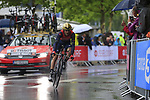 Ion Izaguirre Insausti (ESP) Bahrain-Merida in action during Stage 1, a 14km individual time trial around Dusseldorf, of the 104th edition of the Tour de France 2017, Dusseldorf, Germany. 1st July 2017.<br /> Picture: Eoin Clarke | Cyclefile<br /> <br /> <br /> All photos usage must carry mandatory copyright credit (&copy; Cyclefile | Eoin Clarke)
