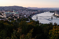 Budapest, Hungary.  Panorama view from Gellert Hill.