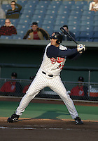 May 5, 2004:  /of/ Simon Pond (33) of the Syracuse Sky Chiefs, Class-AAA International League affiliate of the Toronto Blue Jays, during a game at P&C Park in Syracuse, NY.  Photo by:  Mike Janes/Four Seam Images