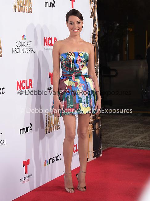 Aubrey Plaza attends The 2014 NCLR Alma Awards held at The Pasadena Civic Center in Pasadena, California on October 10,2014                                                                               © 2014 Hollywood Press Agency