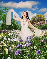 Digitally enhanced photography, fantasy wedding.