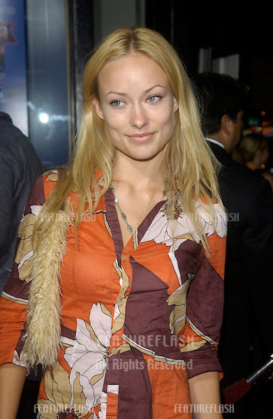 Actress OLIVIA WILDE at the Los Angeles premiere of Wonderland..Sept 24, 2003
