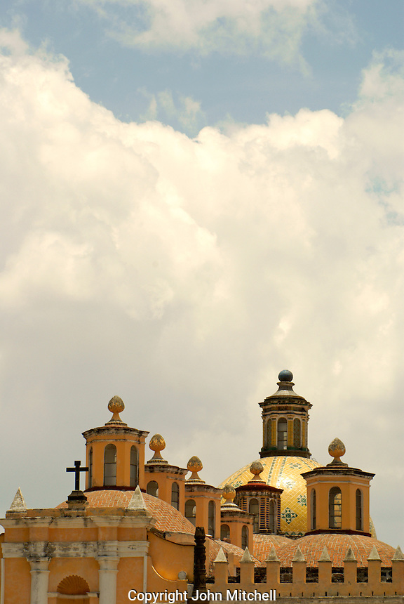 The 16th century Capilla Real in the Ex-Convento de San Gabriel, Cholula, Puebla, Mexico. Cholula is a UNESCO World Heritage Site.