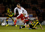 Matt Done of Sheffield Utd tackled by Robbie Weir of Burton Albion - English League One - Sheffield Utd vs Burton Albion - Bramall Lane Stadium - Sheffield - England - 1st March 2016 - Pic Simon Bellis/Sportimage