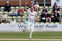 Jamie Porter of Essex celebrates taking the wicket of Tom Fell during Worcestershire CCC vs Essex CCC, Specsavers County Championship Division 1 Cricket at Blackfinch New Road on 12th May 2018