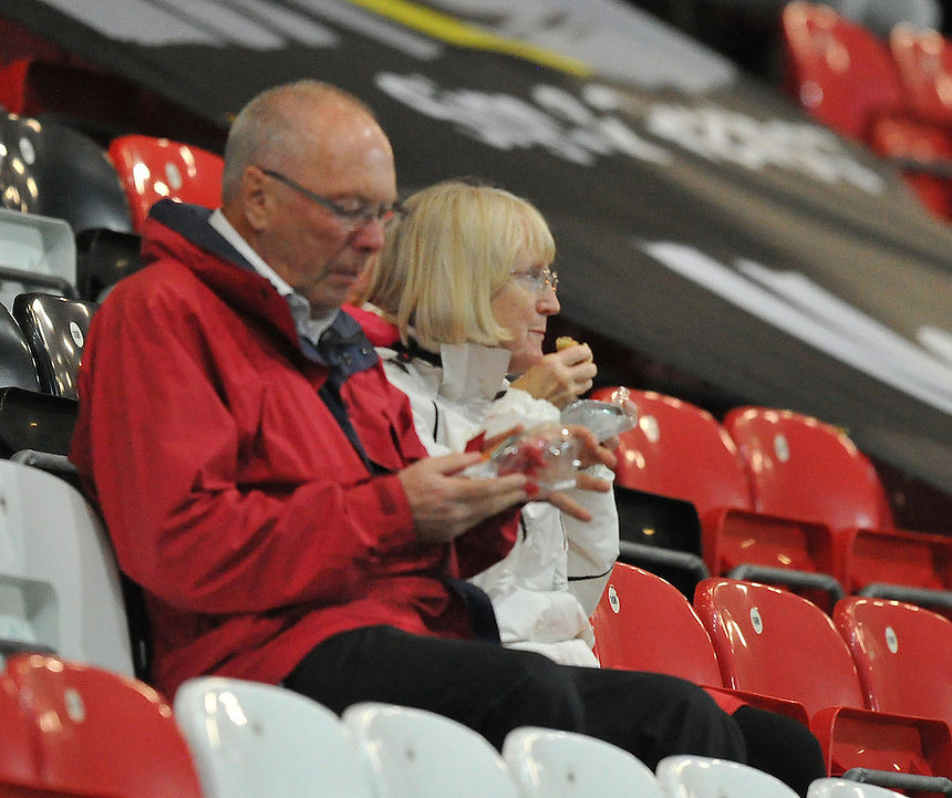 Fans<br /> <br /> Photographer Dave Howarth/CameraSport<br /> <br /> Football - Johnstone's Paint Trophy Northern Section Second Round - Fleetwood Town v Shrewsbury Town - Tuesday 6th October 2015 - Highbury Stadium - Fleetwood<br />  <br /> &copy; CameraSport - 43 Linden Ave. Countesthorpe. Leicester. England. LE8 5PG - Tel: +44 (0) 116 277 4147 - admin@camerasport.com - www.camerasport.com