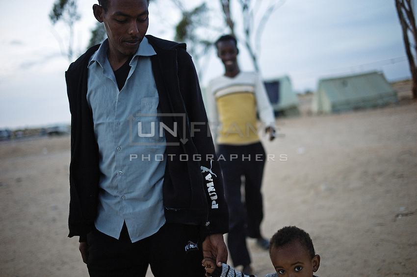 Refugees fleeing the Libyan war