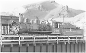 3/4 fireman's-side view of D&amp;RGW #360 on the Salida turntable.<br /> D&amp;RGW  Salida, CO  Taken by Kindig, Richard H. - 7/2/1939