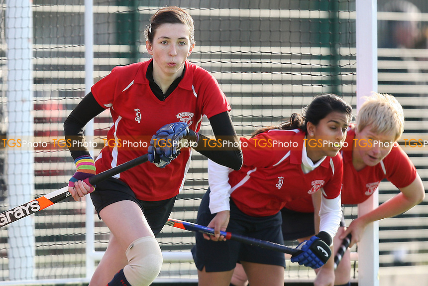 Havering HC Ladies 4th XI vs East London HC Ladies 2nd XI - Essex Hockey League at Campion School - 21/01/12 - MANDATORY CREDIT: Gavin Ellis/TGSPHOTO - Self billing applies where appropriate - 0845 094 6026 - contact@tgsphoto.co.uk - NO UNPAID USE.