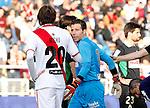Madrid (03/03/2012).-Campo de Futbol de Vallecas..Liga BBVA..Rayo Vallecano-Real Racing Club..Expulsion de Toño...©Alex Cid-Fuentes.......