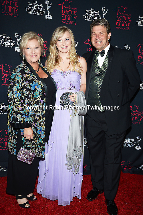 Beth Maitland and family attends the 40th Annual Daytime Creative Arts Emmy Awards on June 14, 2013 at the Westin Bonaventure Hotel in Los Angeles, California.
