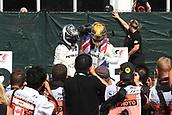 June 11th 2017, Circuit Gilles Villeneuve, Montreal Quebec, Canada; Formula One Grand Prix, Race Day; Lewis Hamilton - Mercedes AMG Petronas wins in Canada and hugs team mate Valtteri Bottas
