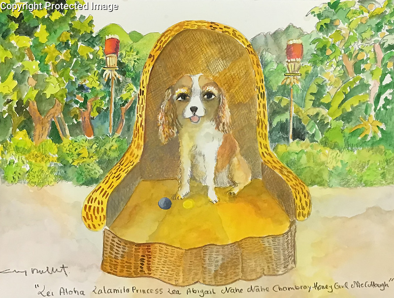 Example 1 Pet w/Background Watercolor<br /> 11x14