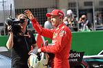 13.04.2019, Shanghai Audi International Circuit, Shanghai, 2019 FORMULA 1 HEINEKEN CHINESE GRAND PRIX<br /> im Bild<br />3. Startplatz f&uuml;r Sebastian Vettel (GER#5), Scuderia Ferrari<br /> <br /><br /> <br /> Foto &copy; nordphoto / Bratic