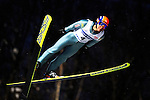 Kazuya Yoshioka of Japan  soars through the air during the FIS World Cup Ski Jumping in Sapporo, northern Japan in February, 2008.
