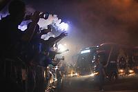 BELO HORIZONTE,MG, 29.08.2018 – CRUZEIRO-FLAMENGO– chegada do Cruzeiro para partida contra o Flamengo em jogo válido pelas oitavas de final da Copa Libertadores da América, no Estádio Governador Magalhães Pinto, o Mineirão, em Belo Horizonte, nesta quarta-feira, 29.(Foto: Doug Patricio/Brazil Photo Press)