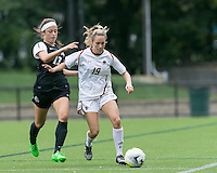 Newton, Massachusetts - September 13, 2015: NCAA Division I. In second overtime, Providence College (black) defeated Boston College (white), 3-2, at Newton Campus Soccer Field.
