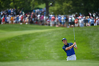 Jordan Spieth (USA) chips on to 8 during 3rd round of the 100th PGA Championship at Bellerive Country Club, St. Louis, Missouri. 8/11/2018.<br /> Picture: Golffile | Ken Murray<br /> <br /> All photo usage must carry mandatory copyright credit (&copy; Golffile | Ken Murray)