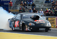 Sept. 28, 2012; Madison, IL, USA: NHRA pro stock driver Erica Enders during qualifying for the Midwest Nationals at Gateway Motorsports Park. Mandatory Credit: Mark J. Rebilas-