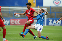 Macc's Fiacre Kelleher & Lee Angol during Macclesfield Town vs Leyton Orient, Sky Bet EFL League 2 Football at the Moss Rose Stadium on 10th August 2019