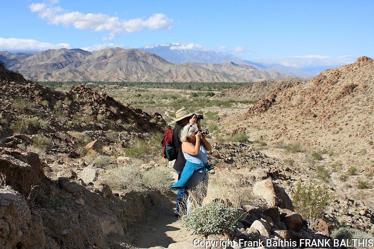 Hikers at the Living Desert Reserve in Palm Desert