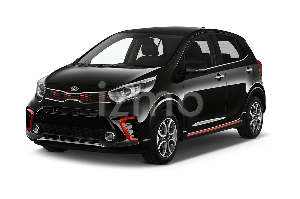 2019 KIA Picanto GT Line 5 Door Hatchback angular front stock photos of front three quarter view