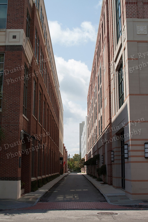 Buildings in Downtown Charleston South Carolina Vanishing Point