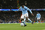 Wilfried Bony of Manchester City scores his sides fourth goal - Manchester City vs Monchengladbach - UEFA Champions League - Etihad Stadium - Manchester - 08/12/2015 Pic Philip Oldham/SportImage