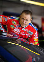 Nov. 14, 2009; Avondale, AZ, USA; NASCAR Sprint Cup Series driver Mark Martin during practice for the Checker O'Reilly Auto Parts 500 at Phoenix International Raceway. Mandatory Credit: Mark J. Rebilas-
