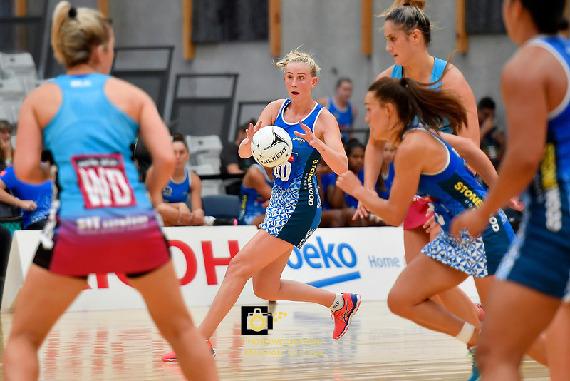 Mystics&rsquo; Samon Nathan in action during the Netball Pre Season Tournament - Mystics v Steel at Ngā Purapura, Otaki, New Zealand on Saturday 9 February  2019. <br /> Photo by Masanori Udagawa. <br /> www.photowellington.photoshelter.com