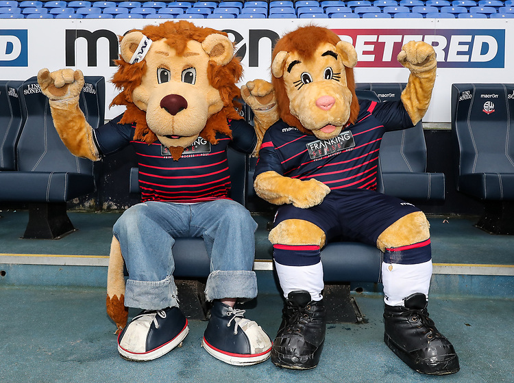 Bolton Wanderers' mascots Lofty Junior and Lofty Senior pictured before todays game<br /> <br /> Photographer Andrew Kearns/CameraSport<br /> <br /> Emirates FA Cup Third Round - Bolton Wanderers v Walsall - Saturday 5th January 2019 - University of Bolton Stadium - Bolton<br />  <br /> World Copyright © 2019 CameraSport. All rights reserved. 43 Linden Ave. Countesthorpe. Leicester. England. LE8 5PG - Tel: +44 (0) 116 277 4147 - admin@camerasport.com - www.camerasport.com