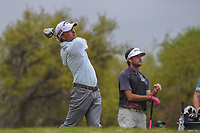Kevin Kisner (USA) watches his tee shot on 12 during day 5 of the World Golf Championships, Dell Match Play, Austin Country Club, Austin, Texas. 3/25/2018.<br /> Picture: Golffile | Ken Murray<br /> <br /> <br /> All photo usage must carry mandatory copyright credit (&copy; Golffile | Ken Murray)