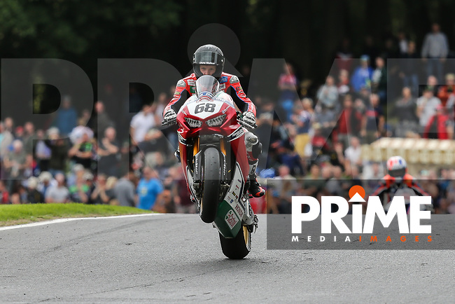 Tom NEAVE (68) of the BSB Honda Racing race team after finishing 15th in Race One at the Bennetts British Superbike Championship Round BSB Round 8 (Sunday) at Cadwell Park Circuit, Louth, England on 19 August 2018. Photo by David Horn.