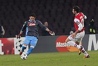 Rafael Cabral   durante l'incontro di calcio di Champions Leahue  Napoli Arsenal allo  Stadio San Paolo  di Napoli , 13 Dicembre  2013<br /> Foto Ciro De Luca