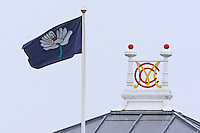 The Yorkshire flag flies next to the MCC crest during Middlesex CCC vs Yorkshire CCC, Specsavers County Championship Division 1 Cricket at Lord's Cricket Ground on 20th September 2016