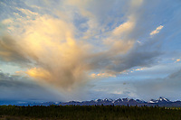 Spring landscape cloud formation over Chugach Mountains of hillside, Anchorage, Alaska May  2015<br /> <br /> (C) Jeff Schultz/SchultzPhoto.com