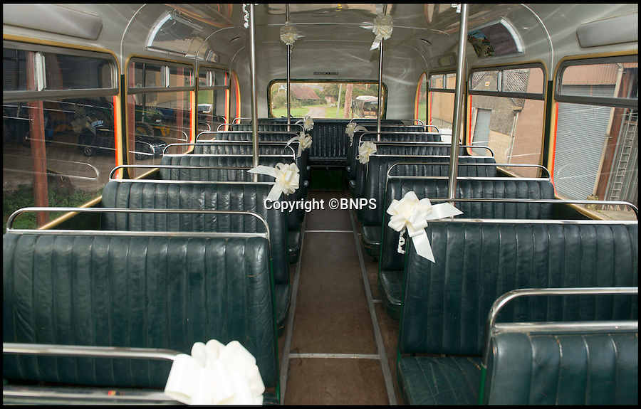 BNPS.co.uk (01202 558833)<br /> Pic: TomWren/BNPS<br /> <br /> The interior of Trevor's bus is all original.<br /> <br /> A bus enthusiast who once ran into a burning building to rescue a double-decker has saved it again after buying it for a restoration project 40 years later.<br /> <br /> Trevor Shore was an 18-year-old conductor when he repeatedly dashed into a blazing bus station in 1976 to drive three of the vehicles to safety in the nick of time.<br /> <br /> Forty years on and Trevor, 58, from Poole, Dorset, has saved one of the three Bristol FLF Lodekka double-deckers from leaving the country after buying it for &pound;13,000.